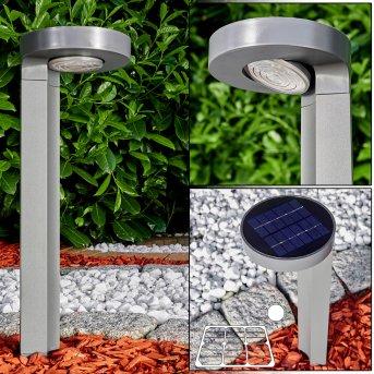 Portmore Solarleuchte LED Grau, 1-flammig