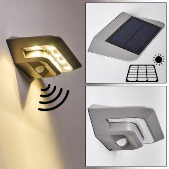 Camden Solarleuchte LED Grau, 1-flammig, Bewegungsmelder