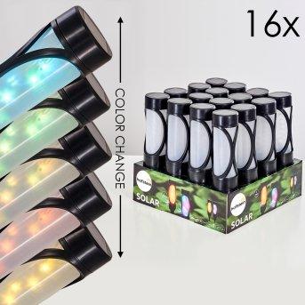 Lakeland Solarleuchte 16er-Set LED Schwarz, 1-flammig