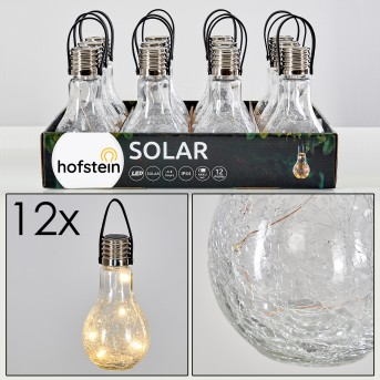 Tian Solarleuchte 12er-Set LED Silber, 1-flammig