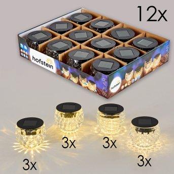 Benson Solarleuchte 12er-Set LED Schwarz, 1-flammig