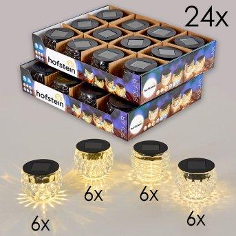Benson Solarleuchte 24er-Set LED Schwarz, 1-flammig