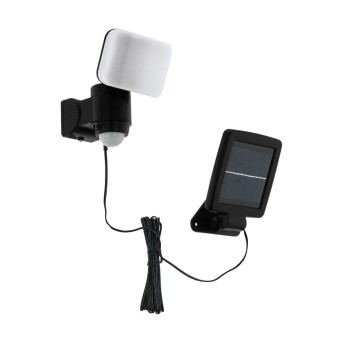 EGLO CASABAS Solar-Außenwandleuchte LED Schwarz, 1-flammig, Bewegungsmelder