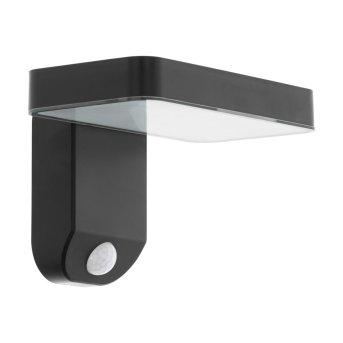 EGLO PASTION Solar-Außenwandleuchte LED Schwarz, 1-flammig, Bewegungsmelder