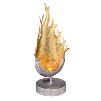 Globo Solarleuchte LED Silber, Orange, 1-flammig