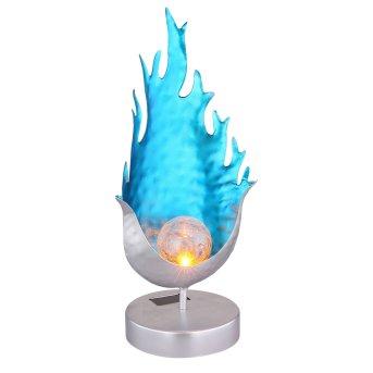 Globo Solarleuchte LED Blau, Silber, 1-flammig