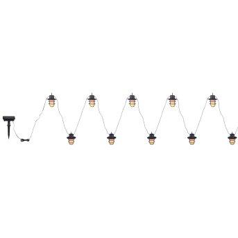 Globo Solar-Lichterkette LED Schwarz, 100-flammig