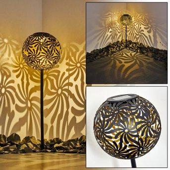 Gilbert Solarleuchte LED Schwarz, 1-flammig