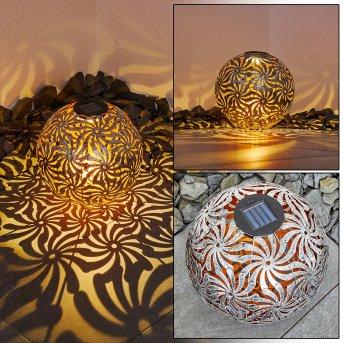 Gilbert Solarleuchte LED Gold, Altsilber, 1-flammig