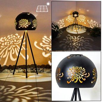Paralia Solarleuchte LED Schwarz, 1-flammig