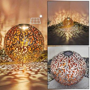 Paradiski Solarleuchte LED Silber, Kupferfarben, 1-flammig