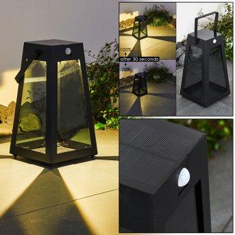 Arnhem Solarleuchte LED Schwarz, 1-flammig