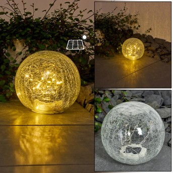 Jurmala Solarleuchte LED Transparent, Klar, 1-flammig