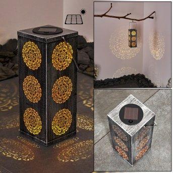 Ajman Solarleuchte LED Silber, Kupferfarben, 1-flammig