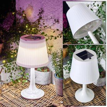 Albenga Solarleuchte LED Weiß, 1-flammig