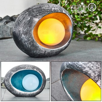 Interlaken Solarleuchte LED Blau, Grau, Silber, 1-flammig
