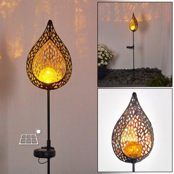 Protaras Solarleuchte LED Schwarz, Kupferfarben, 1-flammig