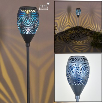Joinville Solarleuchte LED Blau, Schwarz, Grau, 1-flammig