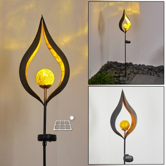 Rovinj Solarleuchte LED Schwarz, Kupferfarben, 1-flammig