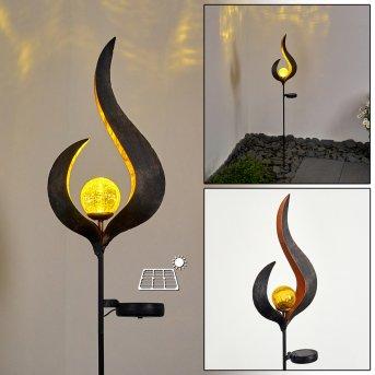Rovinj Solarleuchte LED Anthrazit, Kupferfarben, 1-flammig