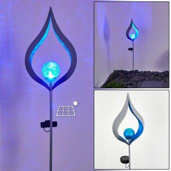 Rovinj Solarleuchte LED Silber, 1-flammig