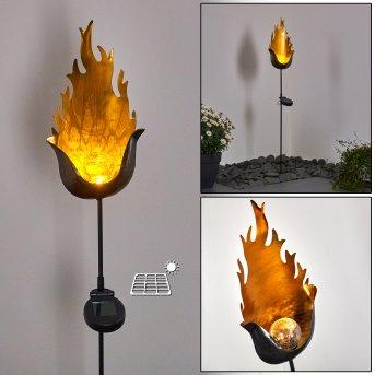 Rovinj Solarleuchte LED Schwarz-Gold, 1-flammig