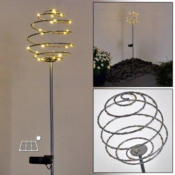 Zermatt Solar-Wegeleuchte LED Silber, 28-flammig