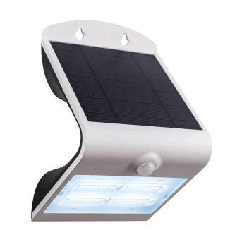Eglo Leuchten LAMOZZO Solar-Außenwandleuchte LED Weiß, 1-flammig, Bewegungsmelder