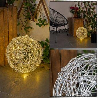 Rapallo Solarleuchte LED Silber, 30-flammig