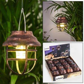 Hangzhou 16er Set Solarleuchte LED Rostfarben, Transparent, Klar, 1-flammig