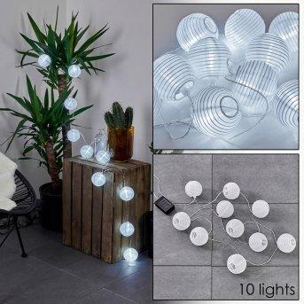 Redding Solarlichterkette LED Weiß, 10-flammig