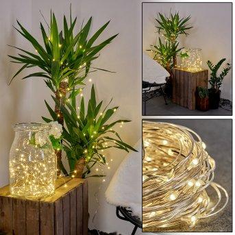 Pistoia Solarlichterkette LED Weiß, 120-flammig
