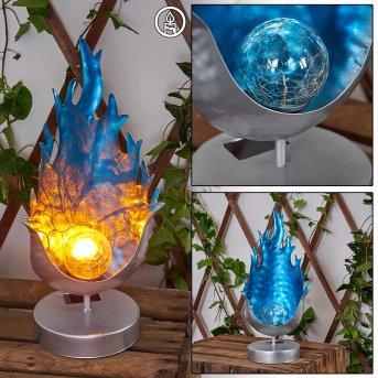Londrina Solarleuchte LED Blau, Silber, 1-flammig