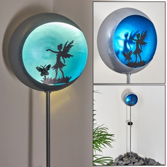 Loano Solarleuchte LED Blau, Silber, 1-flammig