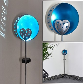 Lodz Solarleuchte LED Blau, Schwarz, 1-flammig