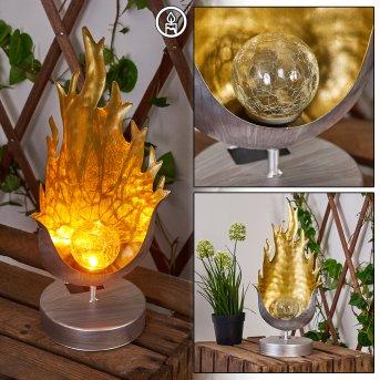 Londrina Solarleuchte LED Silber, Orange, 1-flammig
