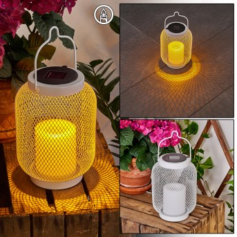 Frosinone Solarleuchte LED Weiß, 1-flammig