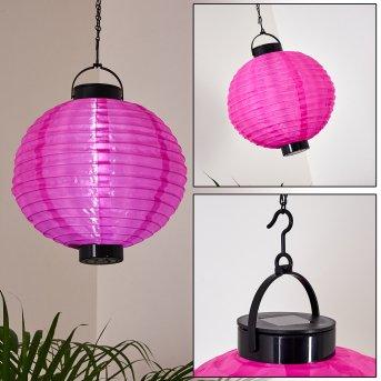 Leogang  Solar-Hängeleuchte LED Pink, 1-flammig