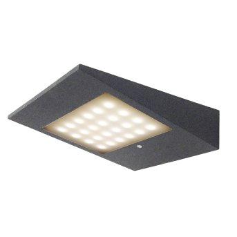 CMD AQUA SOLAR Außenwandleuchte LED Anthrazit, 1-flammig, Bewegungsmelder