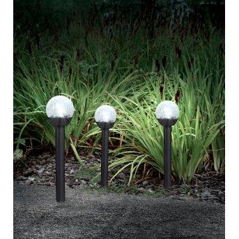Globo 3er Set Solarleuchte LED Schwarz, 1-flammig
