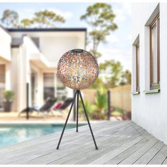 Globo  Solarleuchte LED Schwarz, 1-flammig