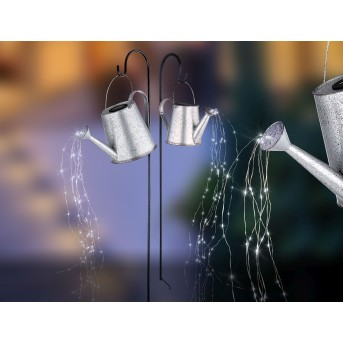 Globo  Solarleuchte LED Silber, 80-flammig