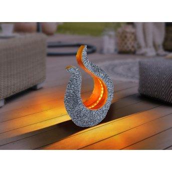 Globo  Solarleuchte LED Grau, 28-flammig