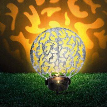 Globo  Solarleuchte LED Silber, 2-flammig