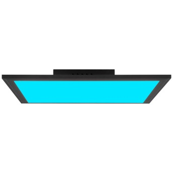 Brilliant Abie Deckenpanel LED Schwarz, 1-flammig, Fernbedienung