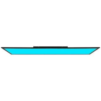 Brilliant Abie Deckenpanel LED Schwarz, 1-flammig, Fernbedienung, Farbwechsler