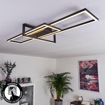 Omega Deckenleuchte LED Schwarz, 1-flammig