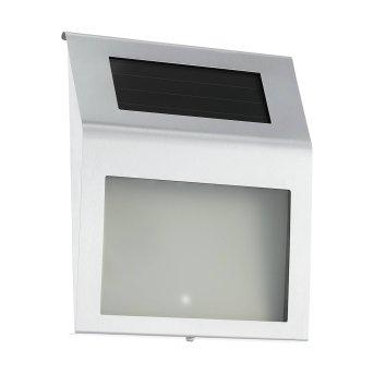 Eglo Z_SOLAR Außenwandleuchte LED Edelstahl, 2-flammig, Bewegungsmelder