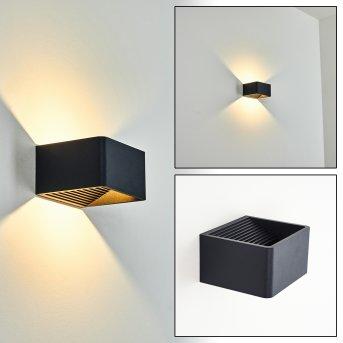 Tématou Außenwandleuchte LED Schwarz, 1-flammig