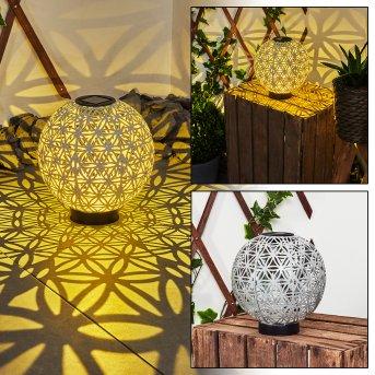 Leonard Solarleuchte LED Schwarz, Weiß, 1-flammig
